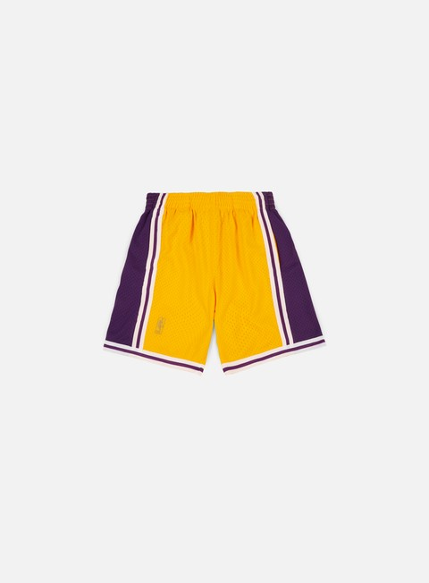 pantaloni mitchell e ness swingman shorts la lakers yellow