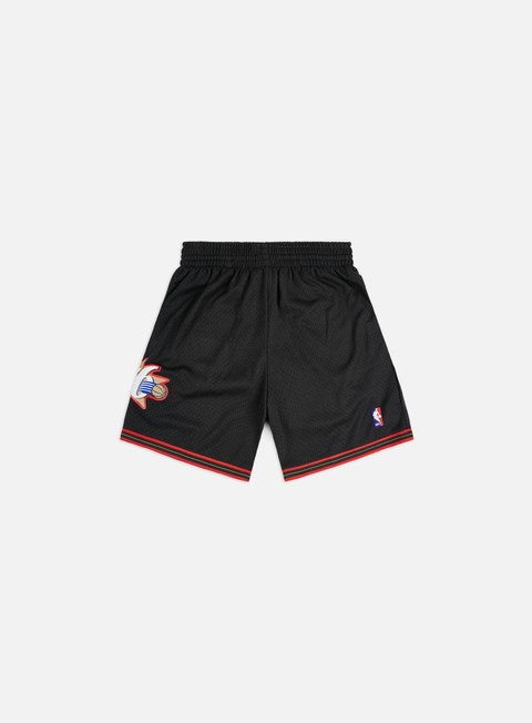 pantaloni mitchell e ness swingman shorts philadelphia 76ers black