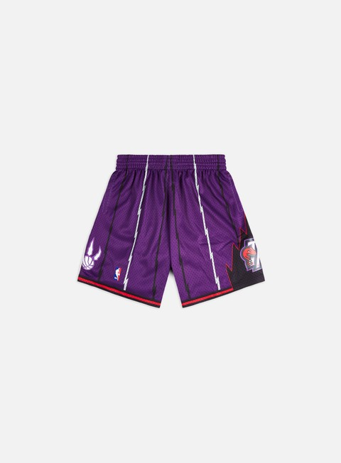 pantaloni mitchell e ness swingman shorts toronto raptors purple