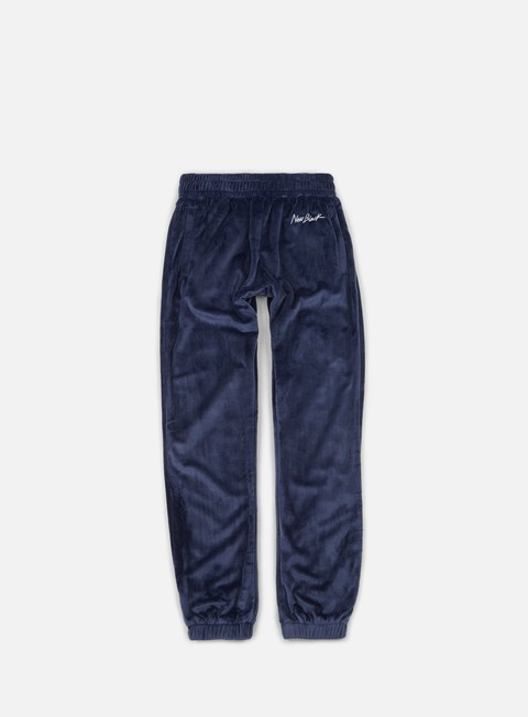 pantaloni new black velour sweatpants navy