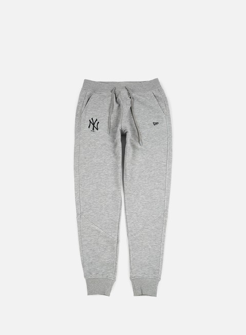 pantaloni new era ft pant ny yankees light grey heather