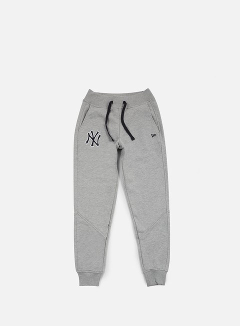 pantaloni new era mlb track pant ny yankees light grey heather