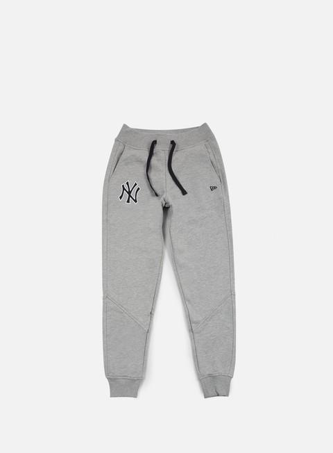 pantaloni new era mlb track pant ny yankees light grey heather
