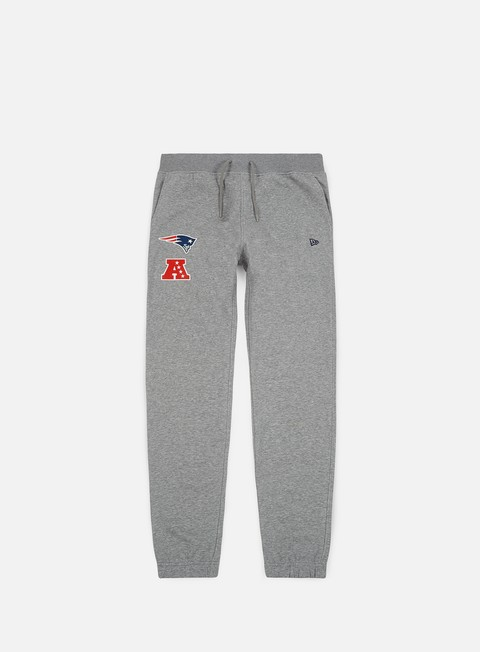 pantaloni new era nfl team apparel track pant new england patriots light grey heather