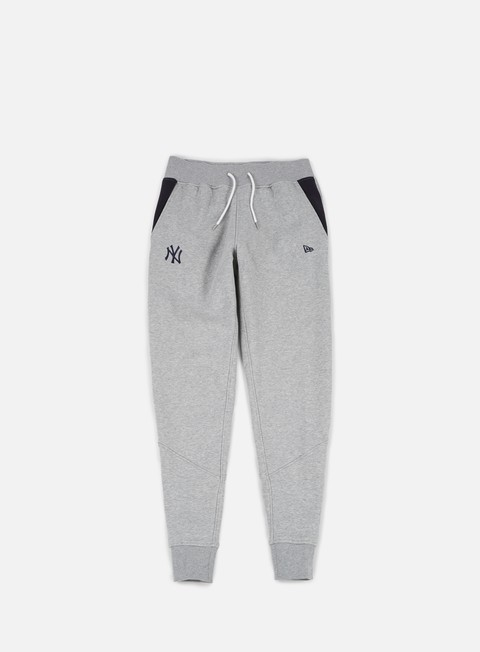 pantaloni new era team apparel fleece pant ny yankees light grey heather