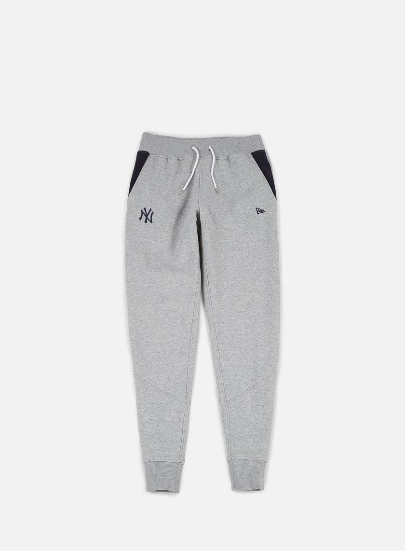 New Era - Team Apparel Fleece Pant NY Yankees, Light Grey Heather