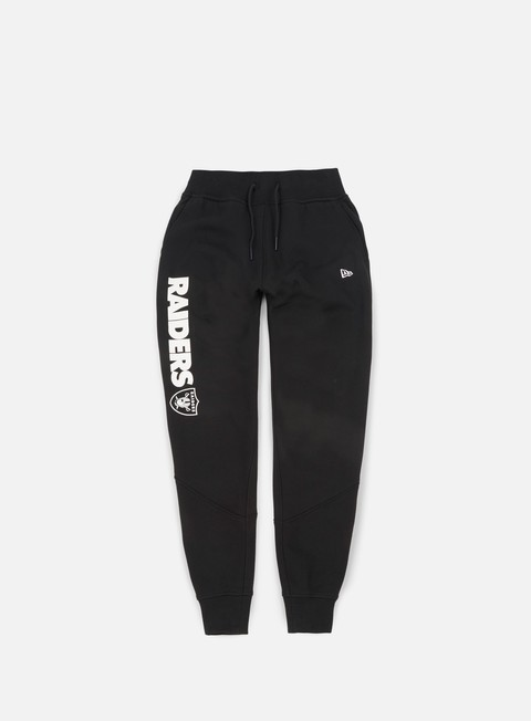 pantaloni new era team apparel script fleece pant oakland raiders black