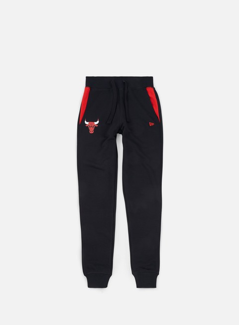 pantaloni new era tip off fleece track pant chicago bulls black