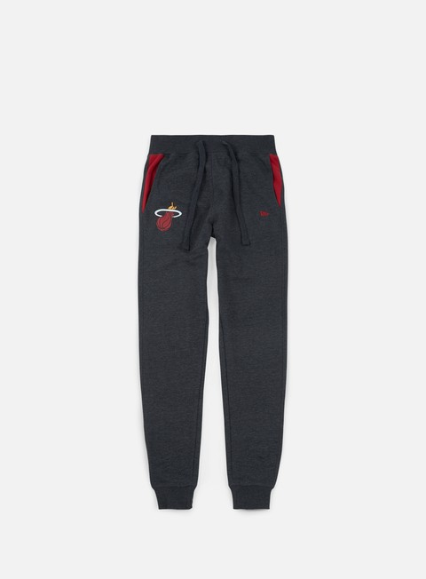 pantaloni new era tip off fleece track pant miami heat dark grey heather