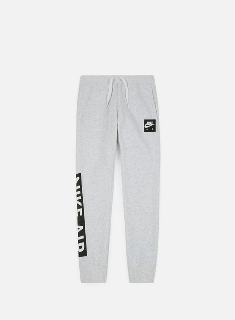 pantaloni nike air fleece pant birch heather white
