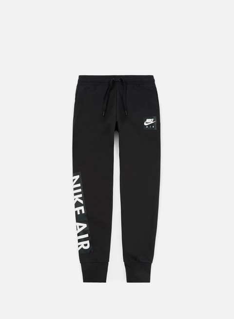 pantaloni nike air fleece pant black black