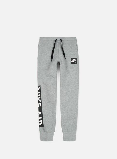 pantaloni nike air fleece pant dark grey heather