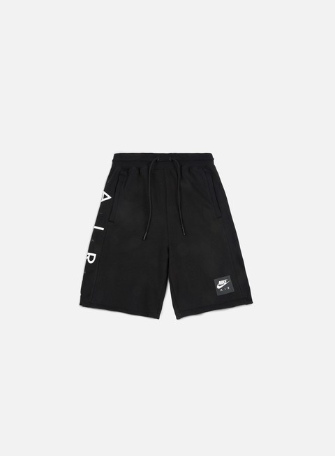 pantaloni nike air fleece short black white
