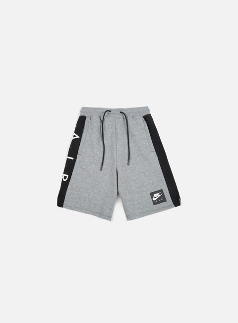 pantaloni nike air fleece short carbon heather white