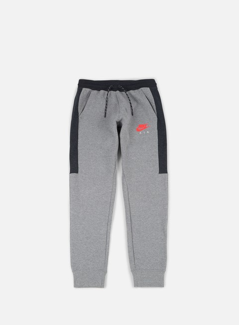 pantaloni nike air jogger fleece pant carbon heather anthracite