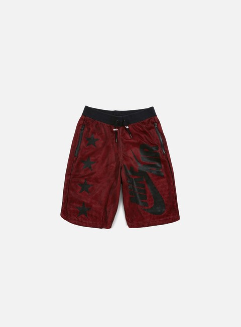 pantaloni nike air pivot v3 mesh short black black gym red