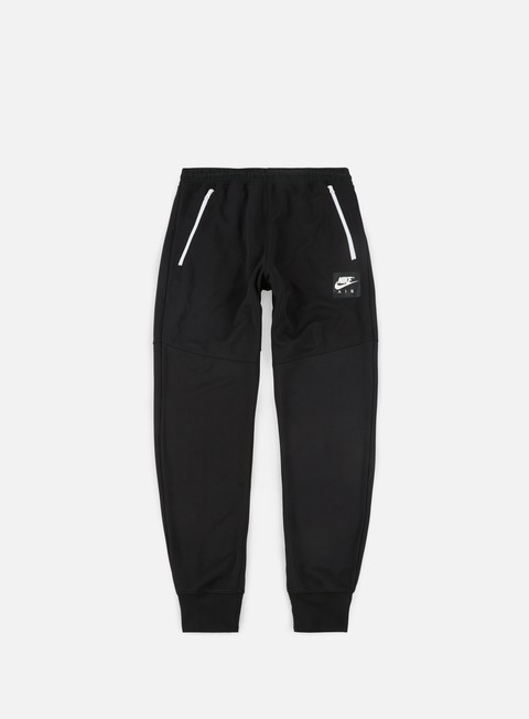 pantaloni nike air track pant black white