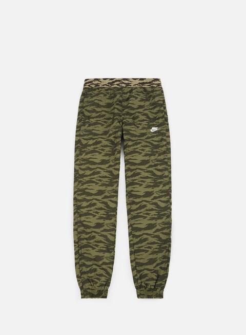 pantaloni nike aop swoosh woven pant medium olive white white