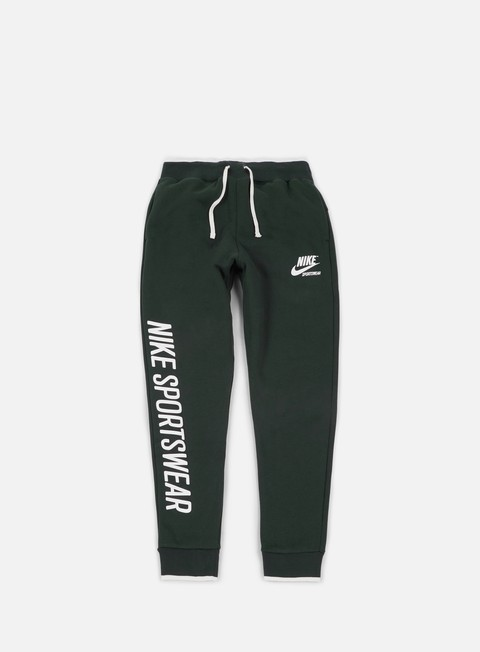 pantaloni nike archive jogger fleece pant outdoor green sail