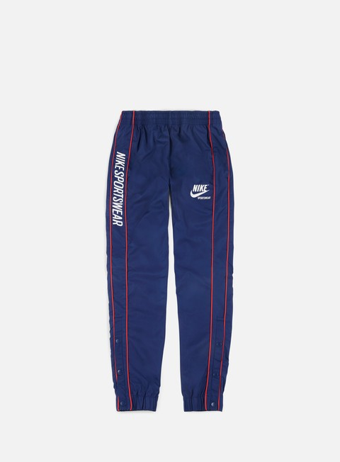 pantaloni nike archive woven pant binary blue university red summit white