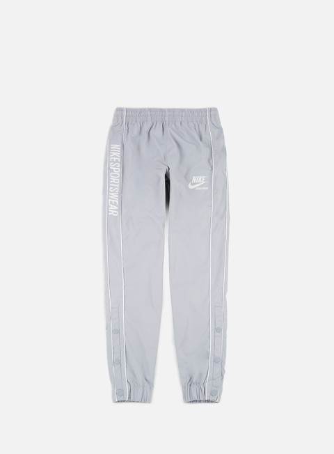 pantaloni nike archive woven pant wolf grey pure platinum summit white