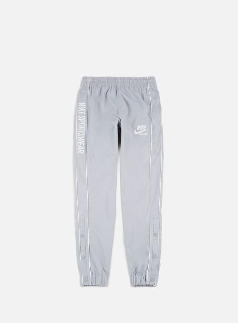 pantaloni nike archive woven pant wolf grey pure platinum summit white