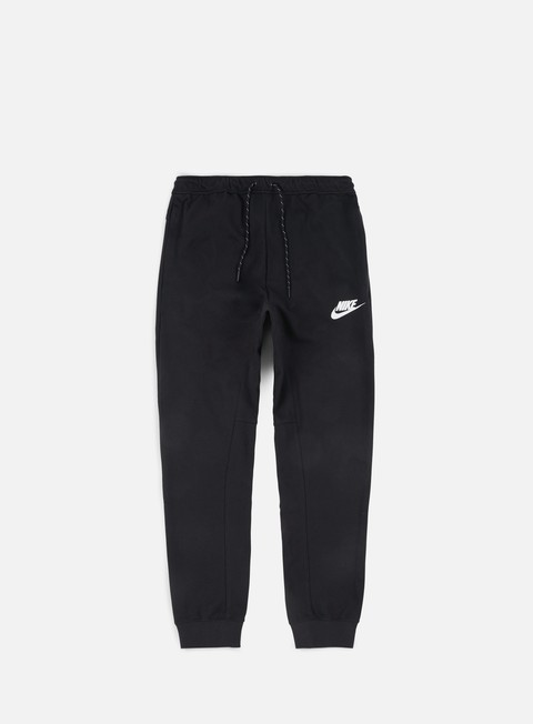 pantaloni nike av15 fleece jogger pant black white