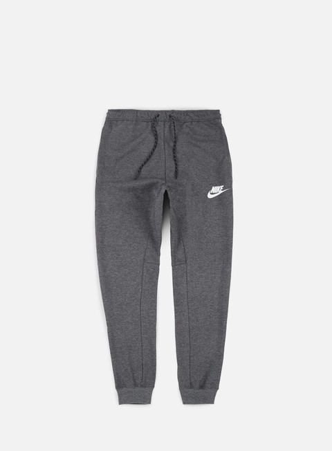 pantaloni nike av15 fleece jogger pant charcoal heather black