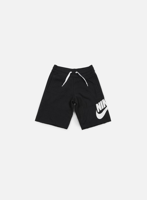 pantaloni nike aw77 alumni short black white