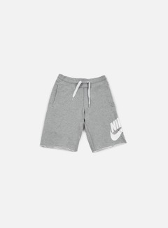 Nike - AW77 Alumni Short, Dark Grey Heather/White
