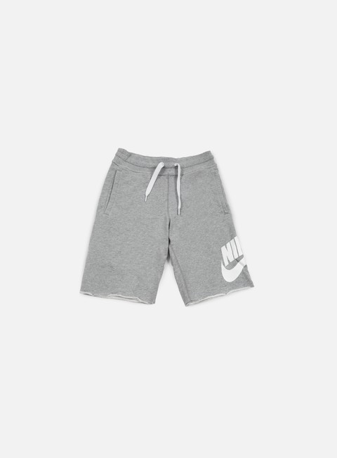 pantaloni nike aw77 alumni short dark grey heather white