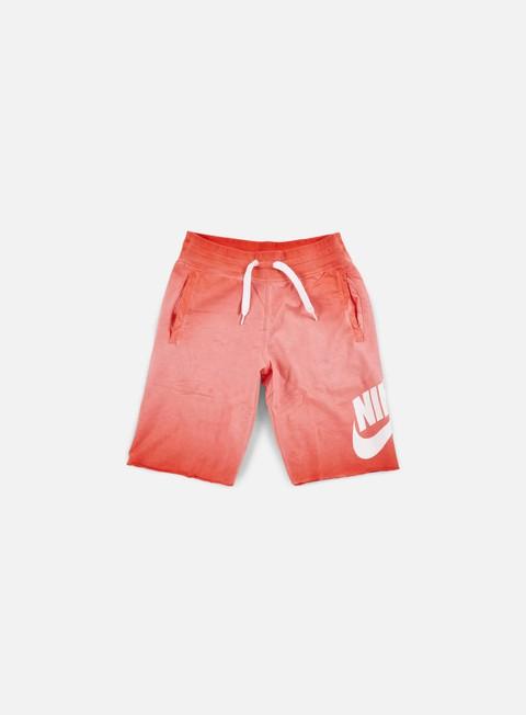 pantaloni nike aw77 alumni short light crimson white