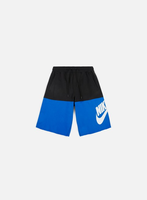 pantaloni nike franchise french terry short black blue nebula white