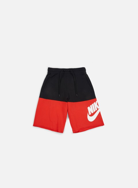 pantaloni nike franchise french terry short black university red white