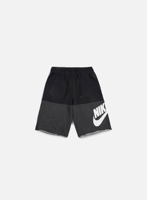 pantaloni nike franchise french terry short black white
