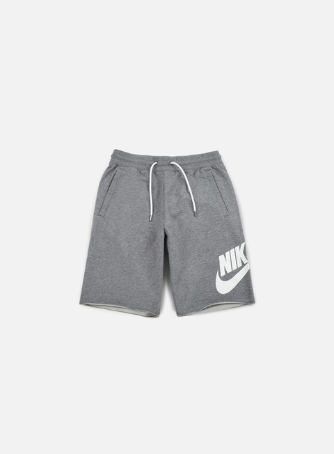 pantaloni nike ft gx 1 short carbon heather white