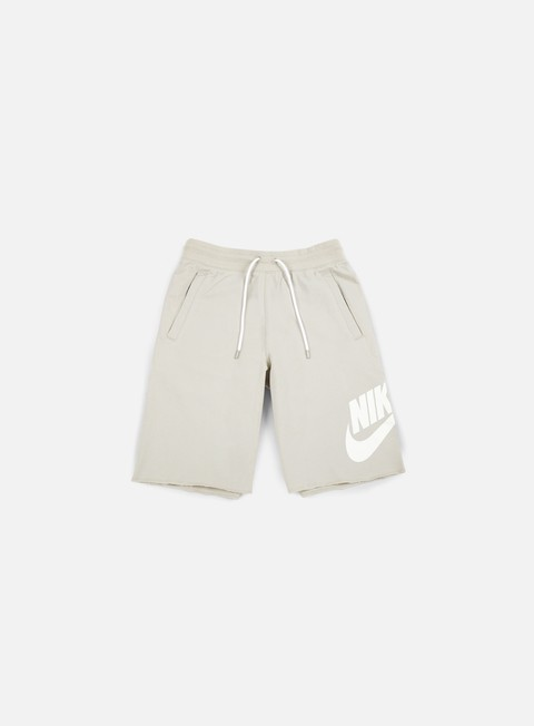 pantaloni nike ft gx 1 short pale grey white