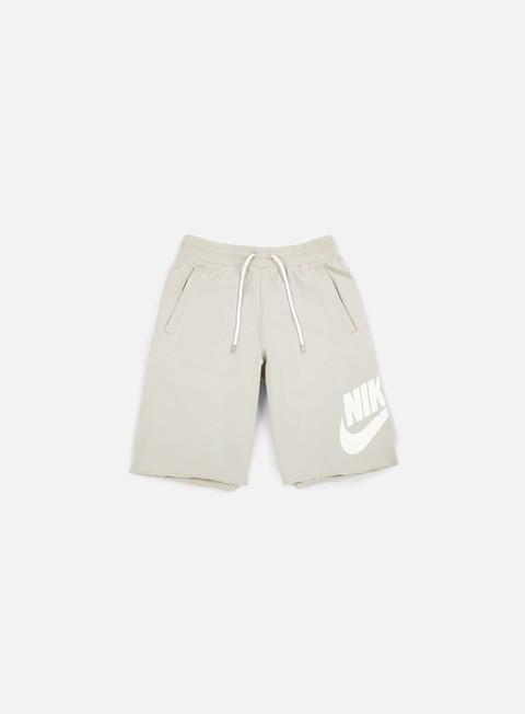 pantaloni nike ft gx 1 short pale grey white