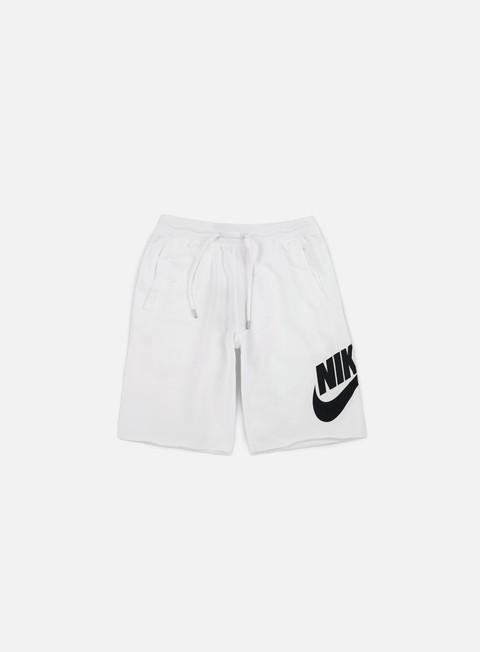 pantaloni nike ft gx 1 short white black