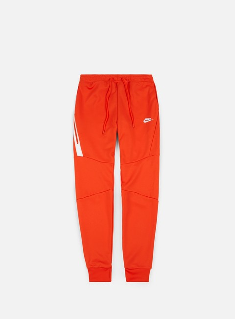 pantaloni nike icon tech jogger pant team orange white