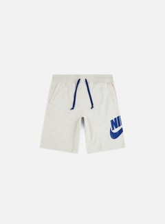 Nike - NSW Alumni Shorts, Oatmeal Heather/Indigo Force