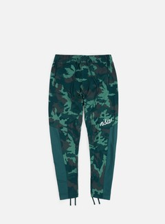 Nike - NSW Camo Woven Pant, Midnight Spruce/White