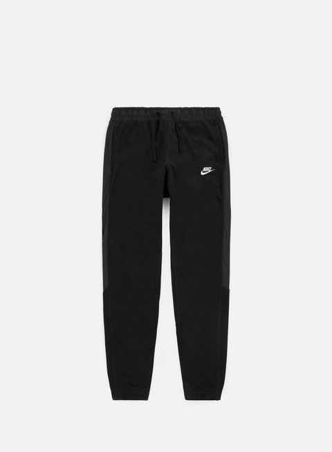 pantaloni nike nsw cf core winter pant black white