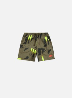 Nike - NSW FSTVL Boardshorts, Medium Olive/Bright Crimson