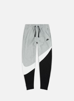 Nike - NSW HBR FT STMT Pant, Black/White/Dark Grey Heather/Black