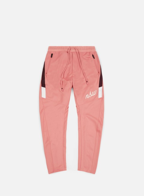 pantaloni nike nsw oh pant rust pink burgundy crush white