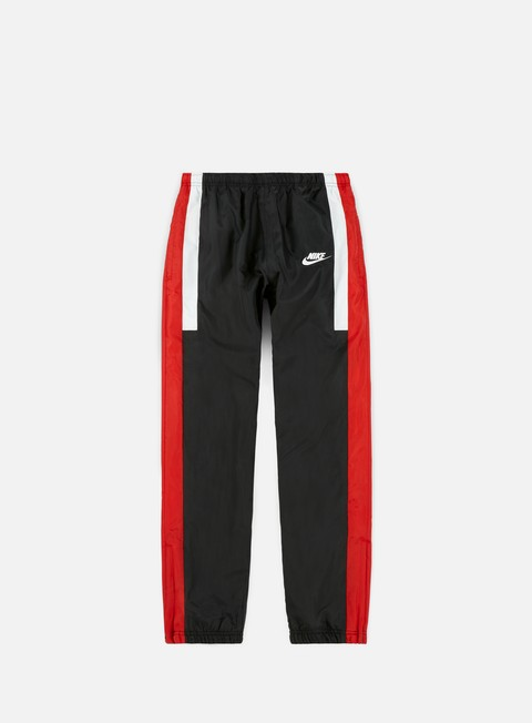 pantaloni nike nsw re issue woven pant black university red summit white