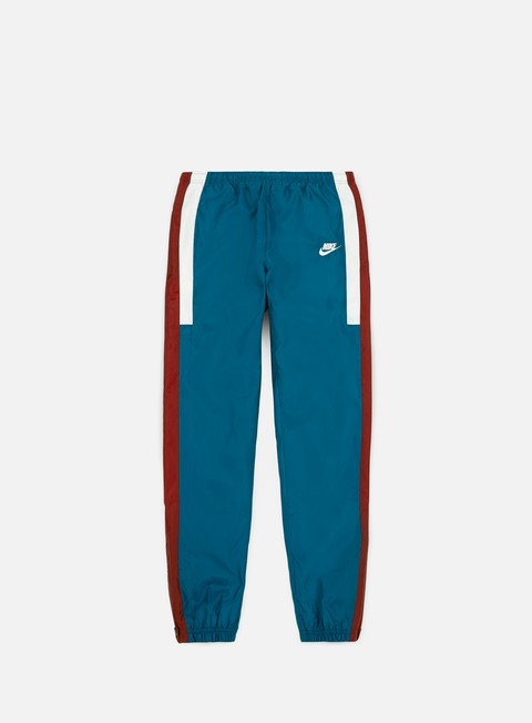 pantaloni nike nsw re issue woven pant green abyss team red sail sail