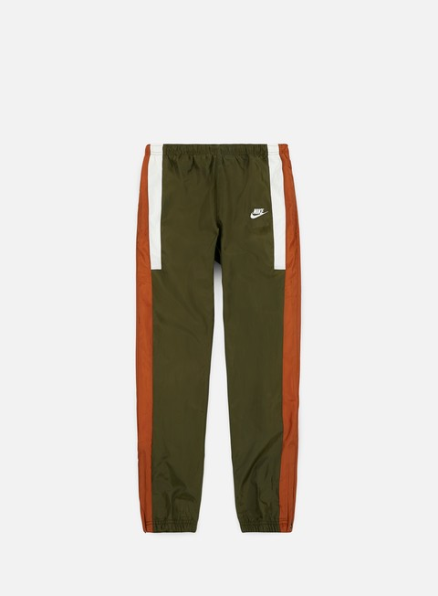 pantaloni nike nsw re issue woven pant olive canvas dark russet sail sail