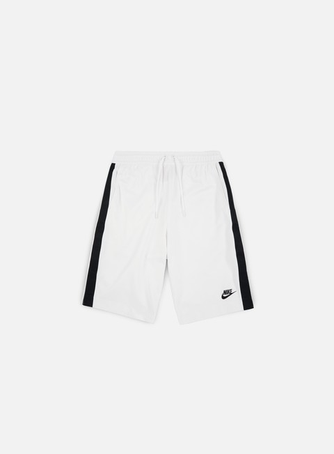 pantaloni nike poly track tribute short white black